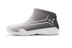 Gray Flow FY-DENY I Basketball Shoe Cover side view