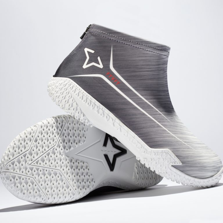 Gray Flow FY-DENY basketball shoe cover