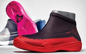 Red Hive FY-DENY basketball shoe cover full view