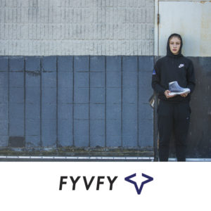 Girl holding FYVFY basketball shoe cover