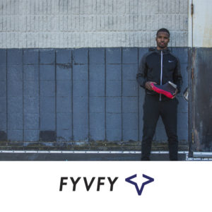 Man holding FYVFY shoe cover