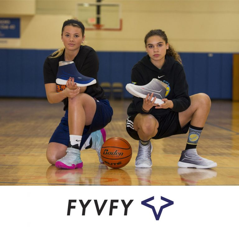 Friends holding FYVFY shoe covers