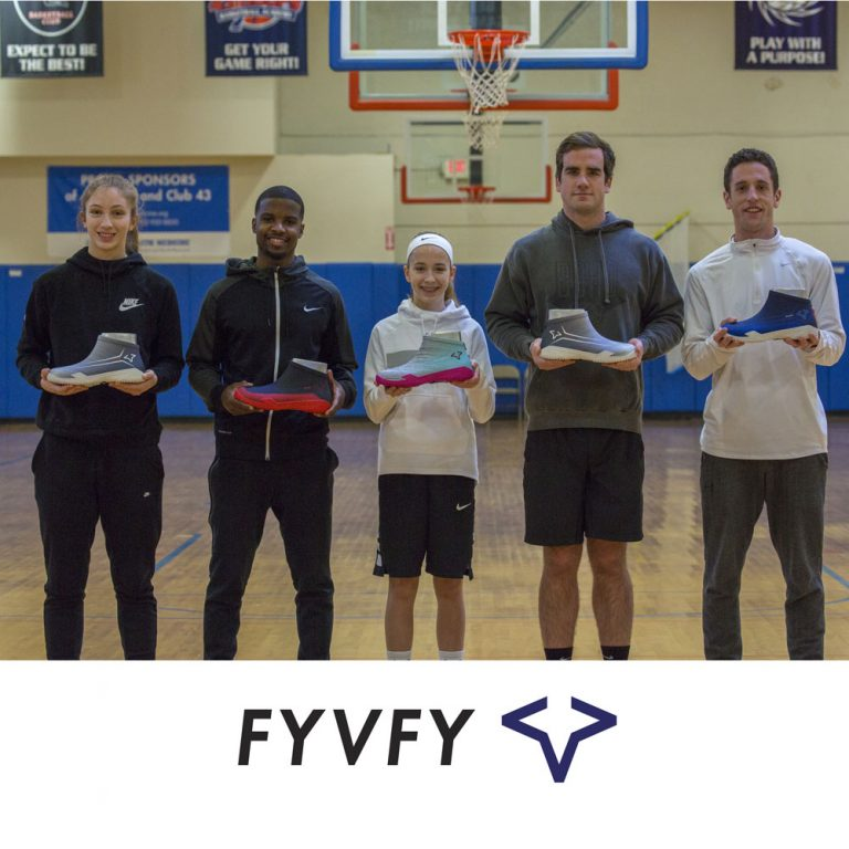 Group of people holding FYVFY shoe covers